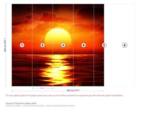 rouge Ocean Sunset Papier Peint Photo Fond décran WS-42602