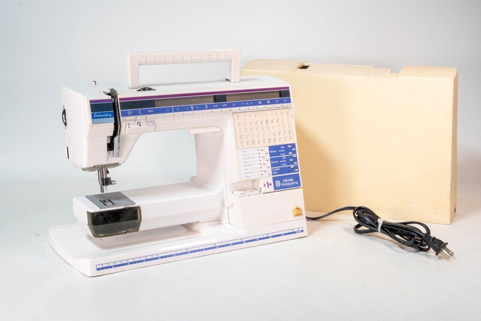 s l1600 - Husqvarna Viking #1+ ONE PLUS 300 Vintage Sewing Machine No Pedal Untested