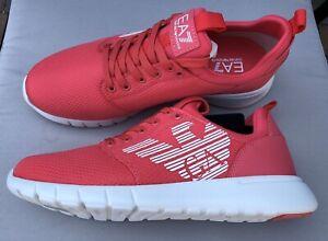 EMPORIO-ARMANI-EA7-Pink-Trainers-Sneakers-Runners-Logo-Design-Size-UK-6-BNIB