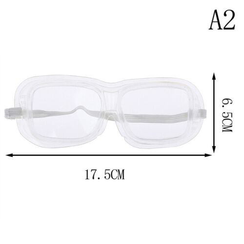 Clear Vented Safety Goggles Eye Protection Protective Lab Anti Impact Glasse BE