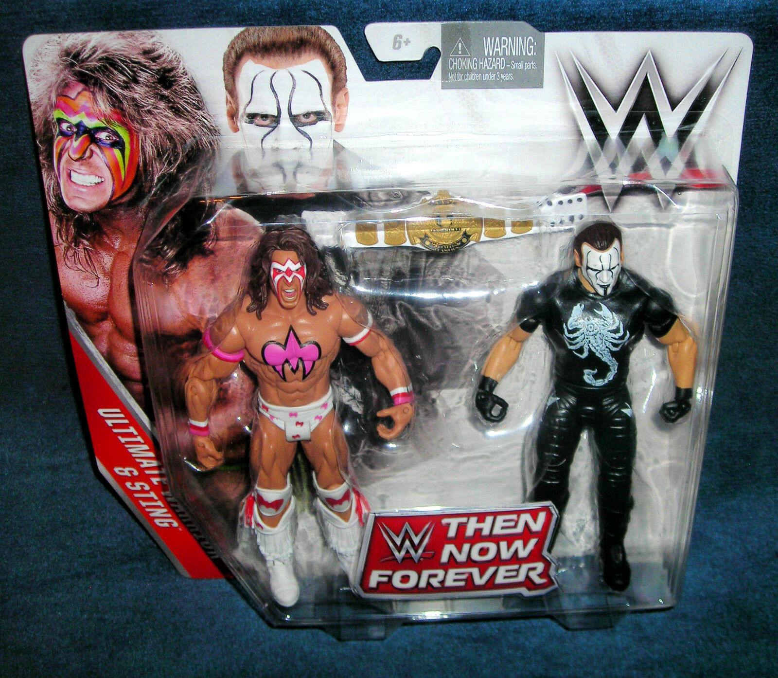WWE ULTIMATE WARRIOR STING CHAMPIONSHIP BELT RAW WRESTLEMANIA THEN NOW FOREVER