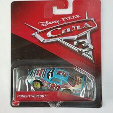 Disney Pixar Cars 3 Ponchy Wipeout # 90 Bumper Save Yellow Rims Diecast Mattel