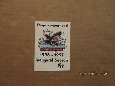 Hockey-other Forceful Ushl Fargo-moorhead Ice Sharks 1996-1997 Inaugural Season Hockey Pocket Schedule