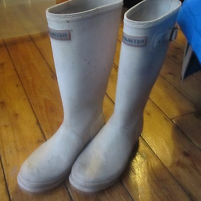 Hunter Wellies Wellington Boots Very Pale Pink UK Size 5 SEE DESCRIPTION