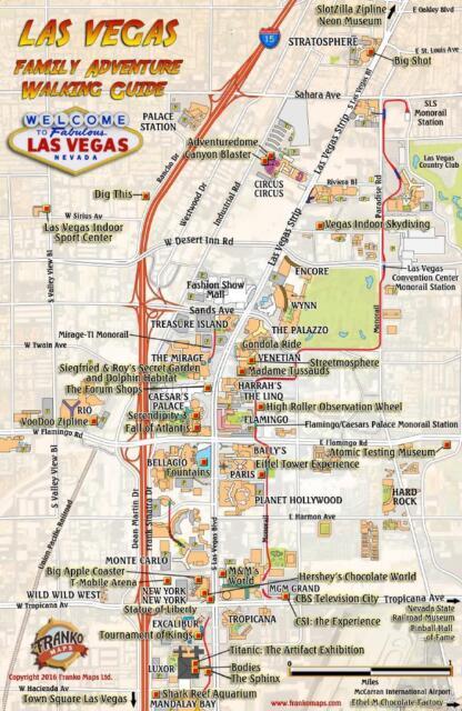 Las Vegas Family Adventure Guide Card