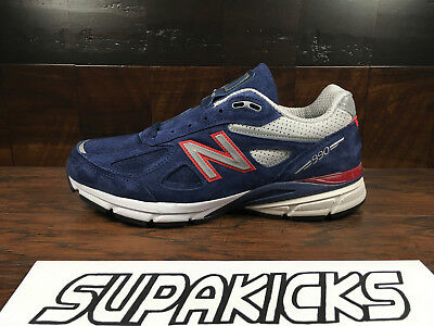 super popular 9914d 61d1f New Balance M990BR4 Suede Mens Running 990v4 (Navy Blue / Red) Made in USA  | eBay