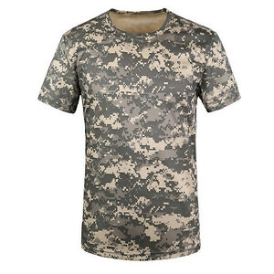 Camouflage-T-shirt-Men-Breathable-Sport-Camo-Tees-ACU-Green-M-SHC2