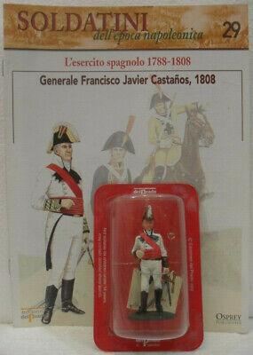 "100% Vero Soldatini Napoleonici In Piombo ""generale Francisco Javier Castanos, 1808"" Mm 54"