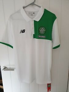best service b27b8 b1fe9 Details about Celtic New Balance Elite Polo Training Shirt Large
