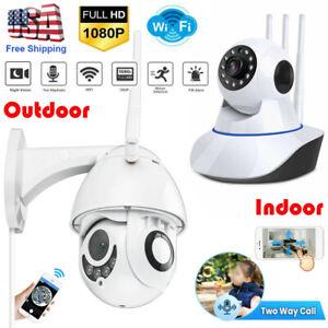 1080P HD WIFI IP Wireless In/ Outdoor Camera CCTV PTZ Home Smart Security IR Cam