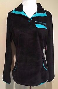NWT-Women-039-s-Black-Long-Sleeve-Free-Country-Venture-Butter-Pile-Fleece-Small