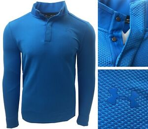 Under-Armour-Storm-Heather-Snap-Mock-Sweater-Pullover-RRP-60-SMALL-OR-MEDIUM