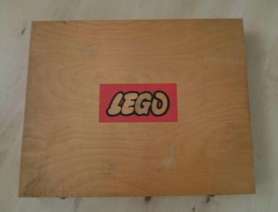 Lego 710 Holz Kiste Sortierkasten mit Holz inlay Box ohne Inhalt aus 1962 RAR