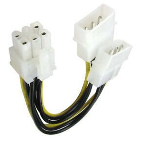 LP4 Molex to 6 Pin PCI Express PCI-E Graphics Card Power Cable Adaptor UK Stock