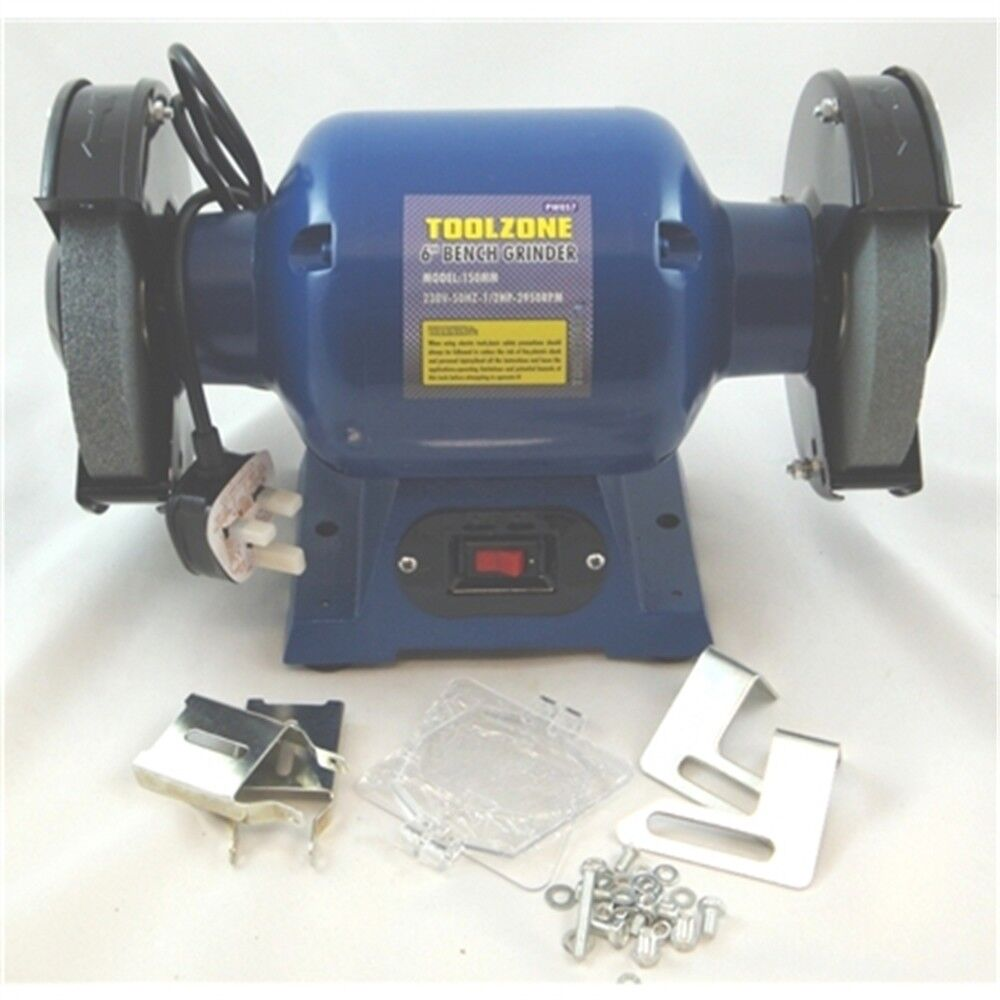 Toolzone 150mm (6 ) Bench Grinder - 6 Inch 370w