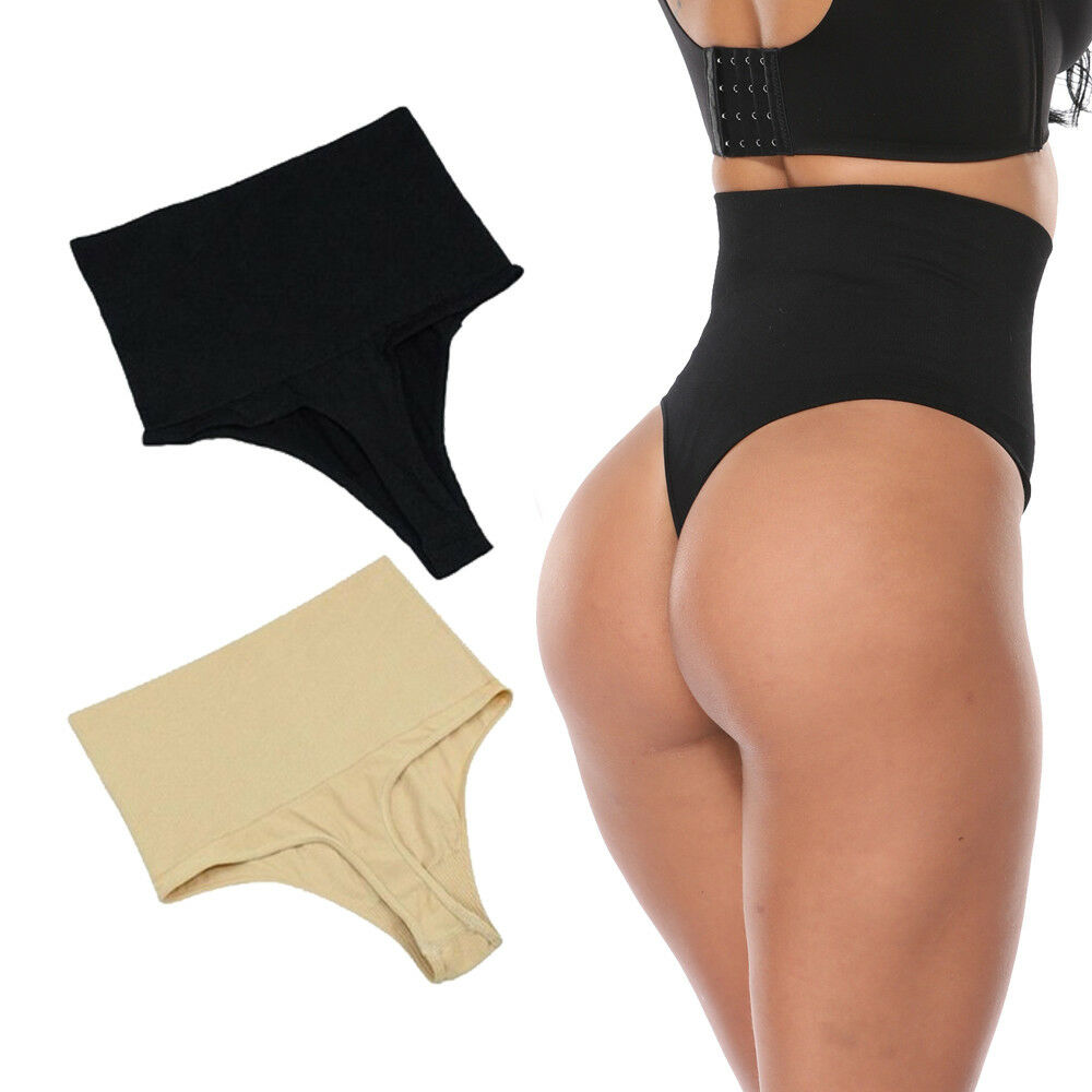 1c2b18bdb9c22 High Waist Thong Panty Shapewear Tummy Control Brief Panty Seamless Body  Shaper