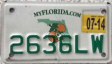 FREE UK POSTAGE Florida Citrus  Motorcycle USA License Number Plate 2636LW