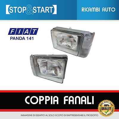 COPPIA FARI MANUALI ANTERIORI DX SX COMPLETI DI FANALINI FIAT PANDA