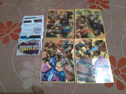 TEENAGE MUTANT NINJA TURTLES PANINI COMPLETE ALL UNUSED STICKERS SET