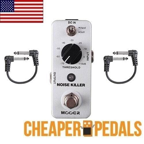 NEW MOOER NOISE KILLER Noise Gate Pedal 2 FREE Patch Cables & FREE Shipping