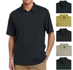 New-Van-Heusen-Men-039-s-Jacquard-Polo-Shirt-Small-Diamond-Pattern-MSRP-45