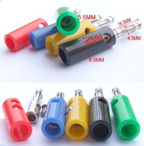 50PCS color 4MM Banana Plug BINDING POST Power Test Equipment Probes Screw Fixed