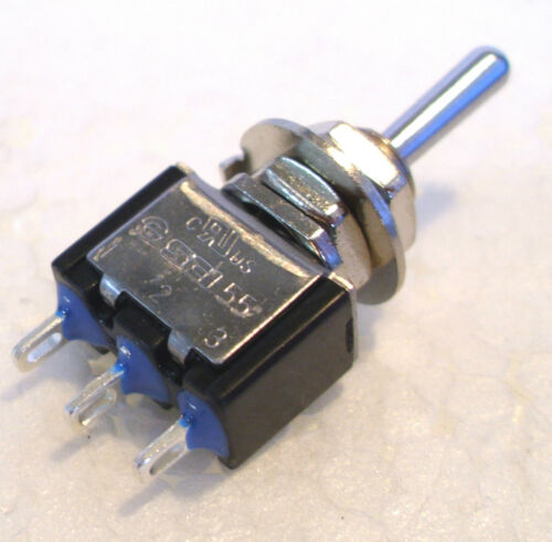 2K280 1 x Mini Toggle 3pin SPDT Biased Switch Ideal for Hornby Peco Point Motors