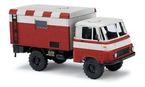Busch-51655-Robur-Lo-1801-A-Suitcase-Flugfeldwagen-Car-Model-1-87-H0