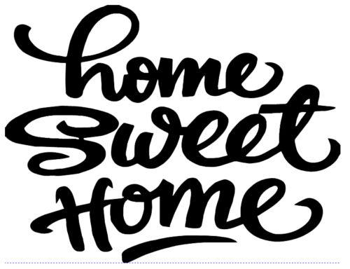 Home sweet home devise citation Salon Chambre Autocollant Mur Autocollant Art Photo