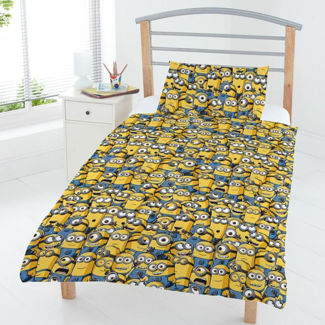 DESPICABLE ME MINIONS JUNIOR DUVET COVER SET KIDS BEDDING OFFICIAL NEW