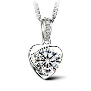 Creative-Hollow-Heart-Shaped-Natural-White-Topaz-925-Silver-Necklace-Pendants