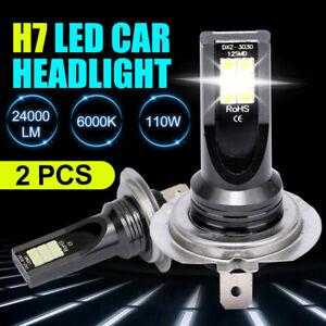 2Pcs-Kit-H7-110W-24000Lm-LED-Car-Headlight-Conversion-Globes-Bulb-Beam-6000K-New