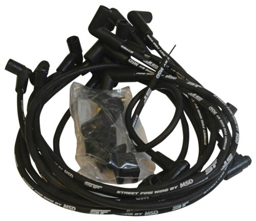 MSD Spark Plug Wires Street Fire 8.0mm Black 90 Deg Boots Chevy Pontiac Olds Sm