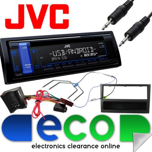 Vauxhall Corsa C 2004-06 JVC AUTO ESTÉREO Radio Kit de actualización CD MP3 AUX USB Negro
