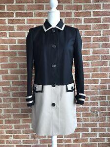Brooks-Brothers-Women-039-s-Classic-Trench-Swing-Coat-Jacket-Black-Khaki-Tan-Size-6