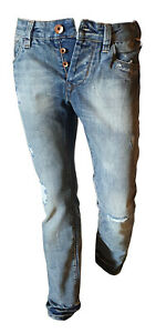 Jeans-Pantalone-Uomo-Casual-Vissuto-Strappato-JACK-amp-JONES-Sbiadito-Vintage-44