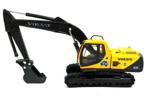 NEW DIECAST IN DISPLAY CASE HO GAUGE VOLVO CONSTRUCTION HYDRAULIC EXCAVATOR