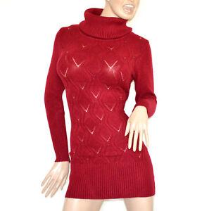 Caricamento dell immagine in corso MAGLIONE-MAXI-PULL-donna-ROSSO-abito- maglia-vestito- 50e4246d7d2