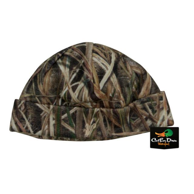 AVERY GREENHEAD GEAR GHG DOUBLE FLEECE SKULL CAP BEANIE SHADOW GRASS BLADES CAMO