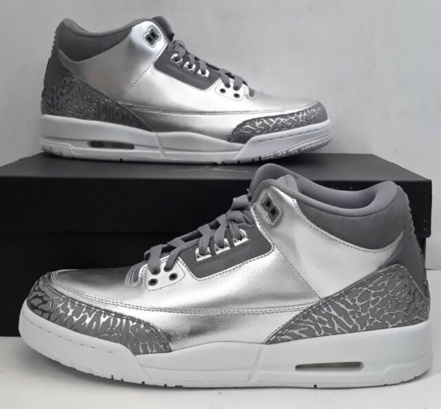 a2b792c5841 Air Jordan 3 Retro GS HEIRESS CHROME US YOUTH NIKE DS SIZE 8Y AA1243-020