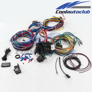 21 circuit wiring harness 17 fuses street hot rod universal wire kit rh ebay com universal wiring harness gm column EZ 21 Wiring Harness