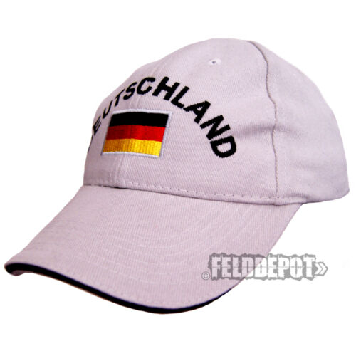 Germania Cap Light Grey//Black con stick WM EM