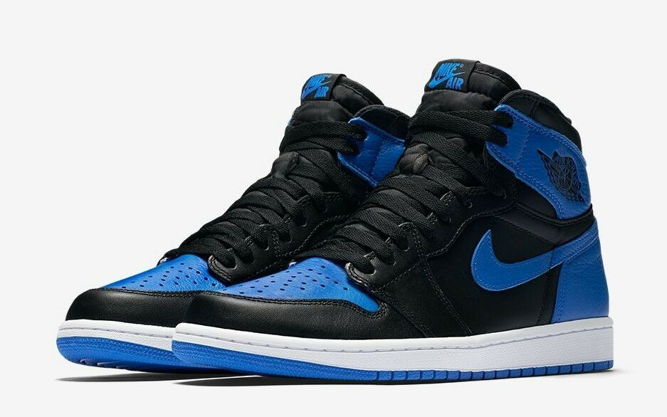 NİKE AİR JORDAN 1 RETRO HIGH OG ROYAL BLUE Size US 9.5 100% Authentic 555088-007