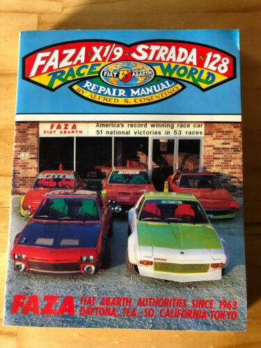 FAZA X1//9 /& STRADA 128 RACE WORLD REPAIR MANUAL FULL VERSION NOS ABARTH
