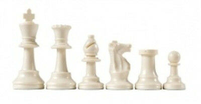 Strong-Willed Half Set Of 17 Colored Chess Pieces Staunton White/ivory New Other Indoor Games Extra Queen