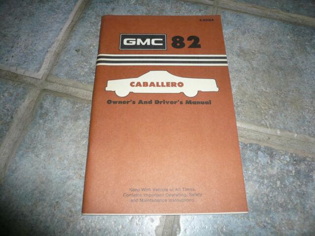 1982 Gmc Caballero Owner U0026 39 S Manual Vintage