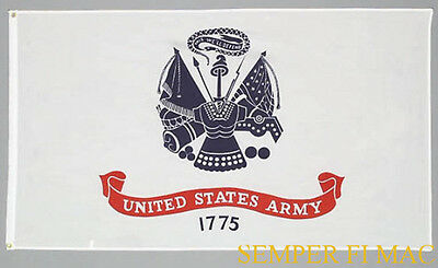 HIGH QUALITY US ARMY BATTLE COLORS FLAG 3 X 5 USA SEAL LOGO PIN UP VETERAN GIFT