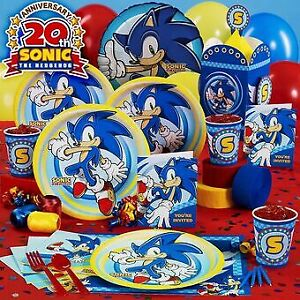 Sonic The Hedgehog Birthday Party Supplies Tableware Decorations Ebay
