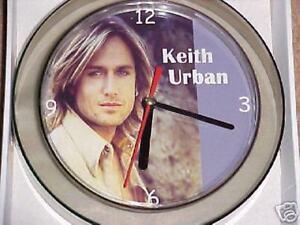 "KEITH URBAN  NOVELTY WALL CLOCK 7"" *Stunning New Design"