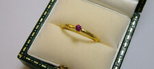 GURHAN 24K GOLD RUBY SKITTLE STACKING RING SIZE 6 RETAIL $1,100 + TAX